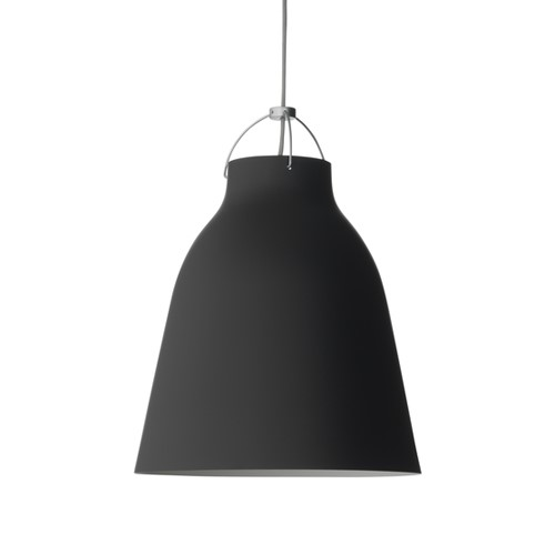 Caravaggio-P2 Pendant lamp, H32.5 x Dia 27.5cm, Matt Black