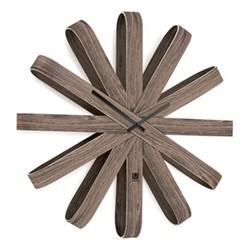 Ribbonwood Wall clock, Dia51 x H10cm, aged walnut