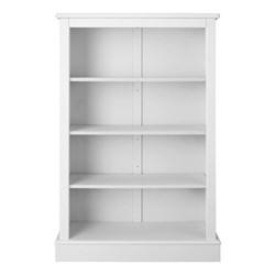 Milne Bookcase, H135 x W89 x D30cm, silk white