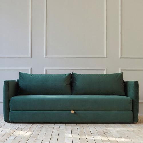 Oswald Sofa bed, H98 x  W222 x D103cm, Green