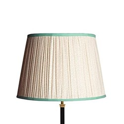 Straight Empire Lampshade, 40cm, aqua squiggles