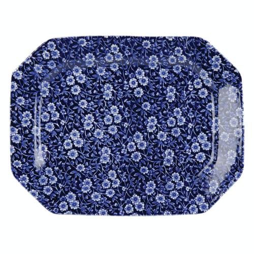 Calico Rectangular dish, 34cm, Blue