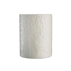 In The Forest Utensil pot, H15 x W11.5 x L11.5cm, cream
