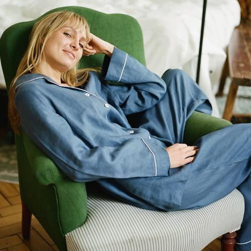 Pyjama trouser set - large, Blueberry