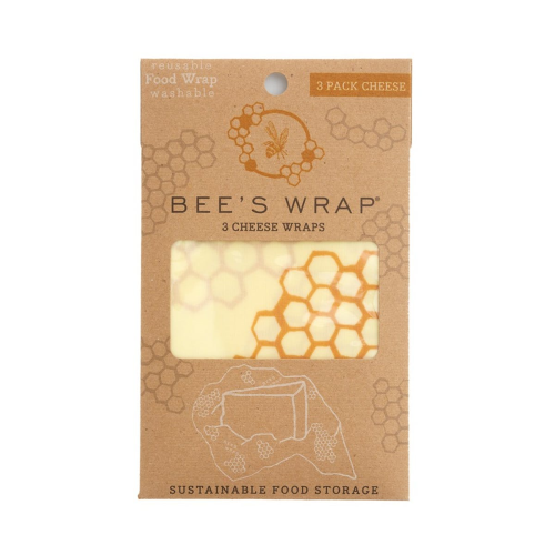 Bee's Wrap Print Pack of 3 cheese wraps, 25 x 28cm