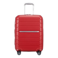 Flux Spinner expandable suitcase, 55 x 40 x 20/24cm, red