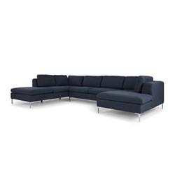 Monterosso Right hand facing corner sofa, H80 x W351 x D157cm, storm blue