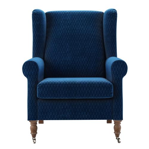 Duke Armchair, H106 x W85 x D96cm, Royal Blue
