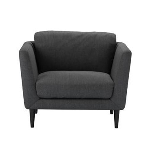Holly Armchair, H87 x W96 x D90cm, Charcoal