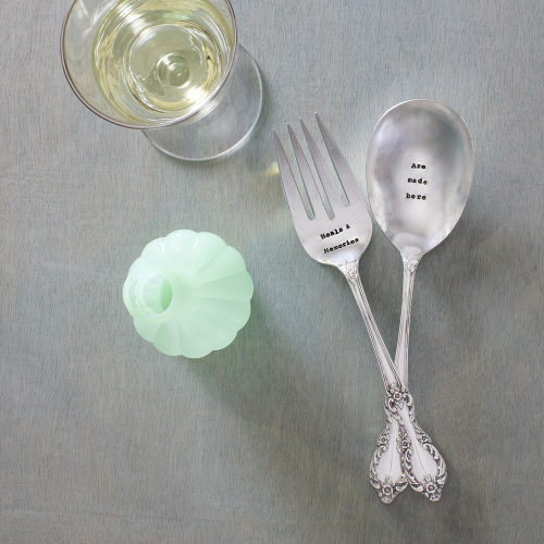 Meals And Memories Pair of salad servers, 21cm, Silver Plated