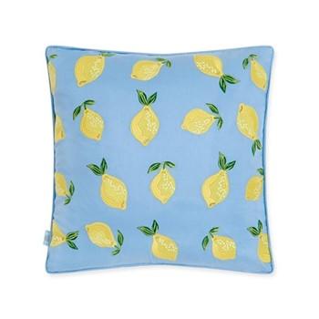 Lemons Cushion, H45 x L45cm, chambray