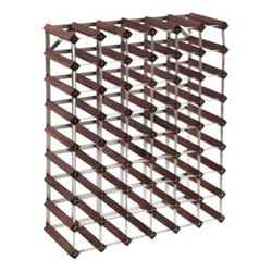 56 bottle wine rack kit, H62 x W81 x D22cm, dark/galvanised steel