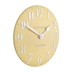 Arabic Small wall clock, 30cm, honey resin