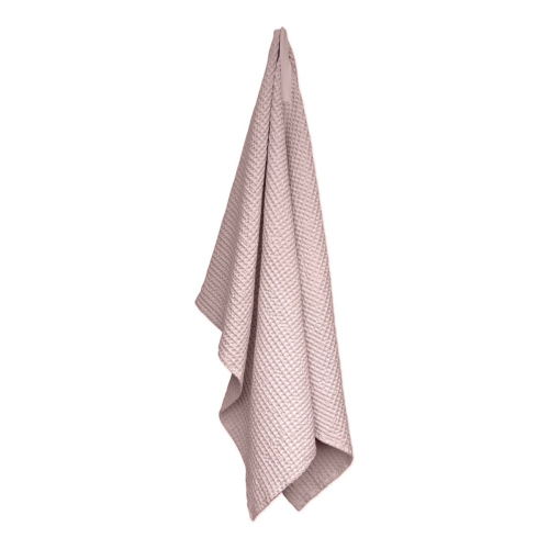 Waffle Towel and blanket, 150 x 100cm, Pale Rose