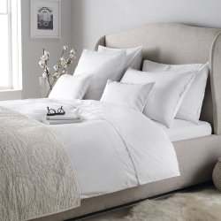 Avignon - 200 Thread Count Cotton King duvet cover, W225 x L220cm, White