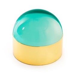 Globo Medium box, L22.86 x D12.7 x H14.05cm, green/polished brass