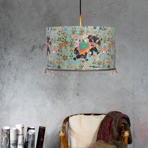 Hindustan Aquamarine Pendant Lamp, H30 x Dia55cm