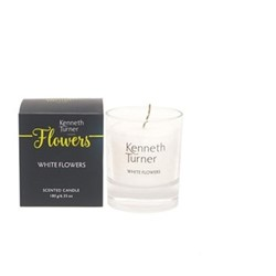 White flowers Candle, white