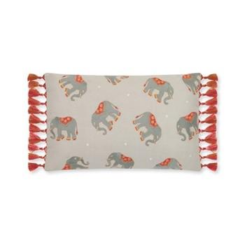 Elephant Cushion, H30 x L50cm, grey