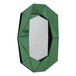 Diamond Large wall mirror, L72 x H100 x D6.2cm, silver/emerald/black