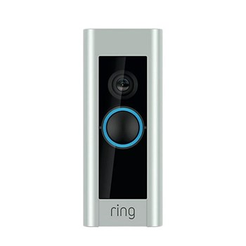 Ring Pro Smart video doorbell pro with built-in Wi-Fi and camera plus ring smart chime, L11.43 x W4.67 x H2.03cm, silver black