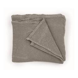 Grove Waffle bedspread, W150 x H200cm, stone