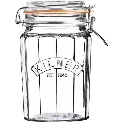 Set of 3 clip top jars, 950ml