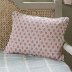 Nina Linen cushion, 40 x 30cm, rose