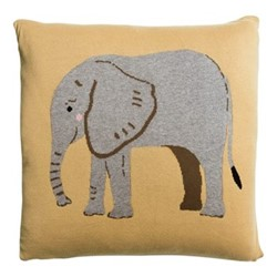 ZSL Elephant Cushion, L50 x W50cm, multi