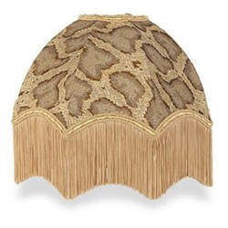 Serpentis Fringed lampshade, D33 x H17 x D10cm, taupe