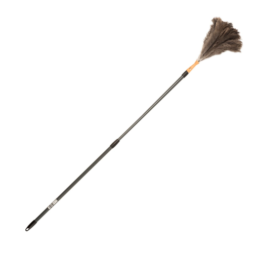 Extendable ostrich feather duster, 1.5 - 2 metre