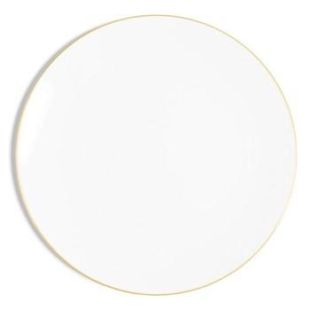 Line - Colour Coupe plate, D32cm, metallic gold