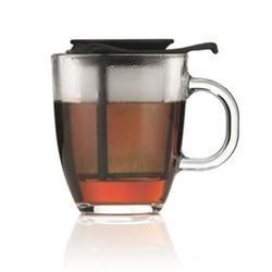 Yo-Yo Mug and tea strainer, 35cl, black