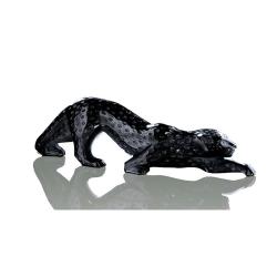 Zeila Panther figure, H11 x L36.5cm, Black
