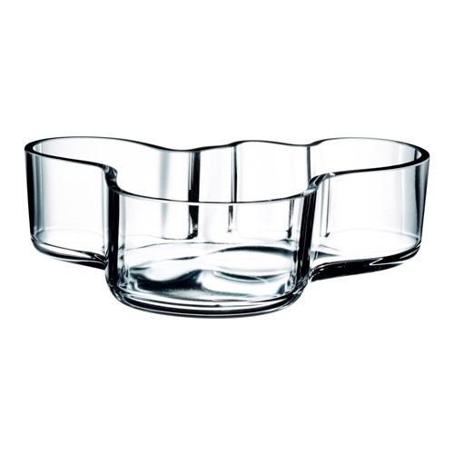 Alvar Aalto Bowl, 5 x 19.5cm, Clear