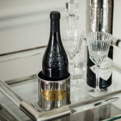 Heritage Wine bottle holder, 10.5 x 10.5cm, Stainless Steel And Brass