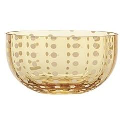 Perle Set of 6 bowls, 11.5cm, amber