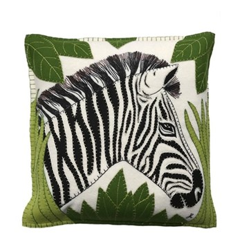 Zebra Cushion, 46 x 46cm, cream