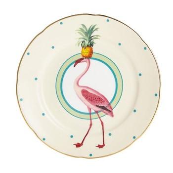 Flamingo Set of 6 cake plates, 16cm
