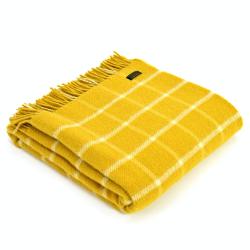 Chequered Check Throw, 150 x 183cm, Yellow