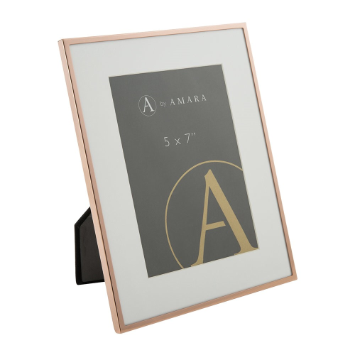 """Photograph frame, 5 x 7"""", copper plated"""