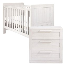 Atlas Cotbed and dresser changer, nimbus white