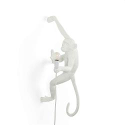 Right hand hanging monkey Lamp, H20.5 x 37cm, White