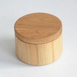 Swing top pot, H7.5 x W11cm, oak
