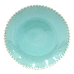 Pearl Set of 4 dinner plates, 28cm, Aqua