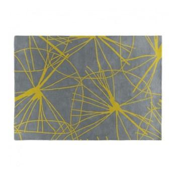 Star Floral Rug, W170 x L240cm, grey/saffron