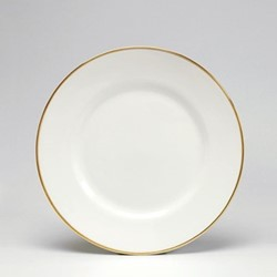 Dinner plate, 26cm, gold/white