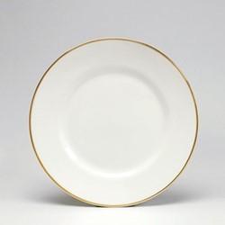 Dinner plate, 26cm, gold/white