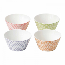Pastels Accent Set of 4 cereal bowls, 15cm