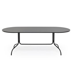 Friday Oval dining table, 90 x 72 x 210cm, black/fenick